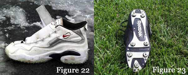 Nike Air Zoom high top shoe and 7 post shoe