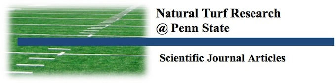 Natural Turf Research @ Penn State - Scientific Journal Articles
