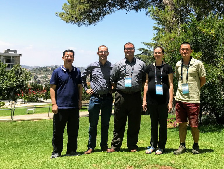 Yingzhi Gao, Johannes Postma, Larry York, and Amelia Henry (left to right) reunite at ISRR 10 meeting