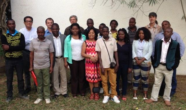 Workshop participants, Mozambique