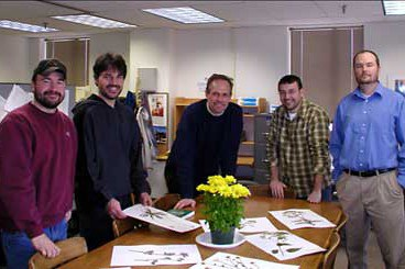 From left: Dave Sandy, Eric Nord, Dave Mortensen, Matt Ryan, and Rich Smith